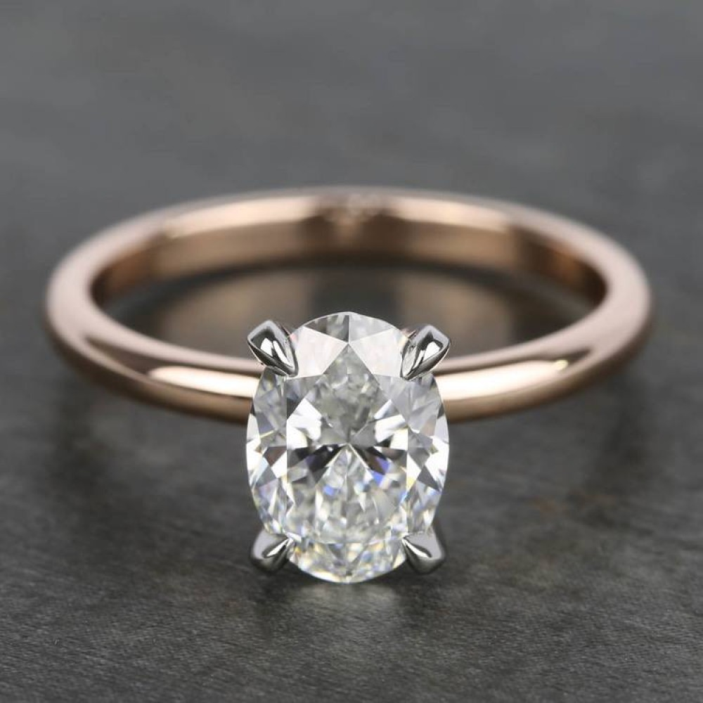 1.00 Ct Oval Solitaire Engagement Ring