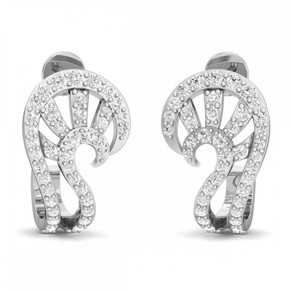 """""""S"""" Shape Diamond Drop Earrings"""
