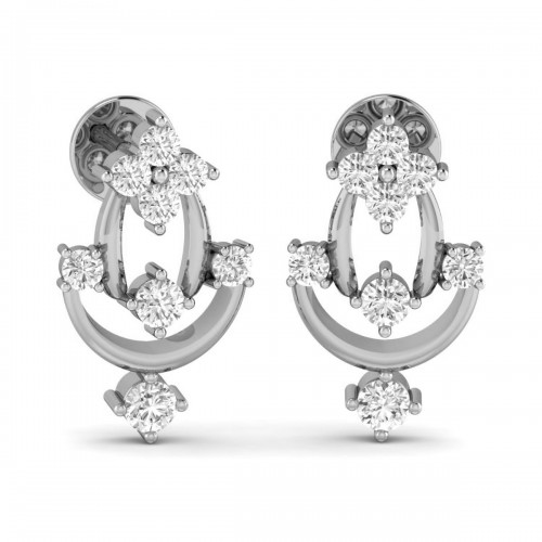 18K Solid Gold & Natural Diamond Earrings