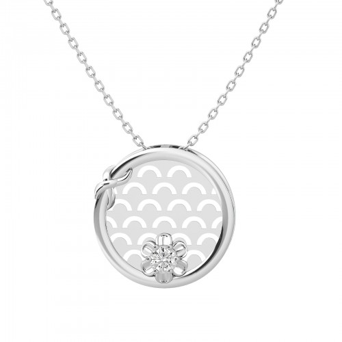 Elma Diamond Floral Pendant