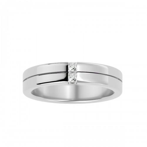 Prestige Princess Cut Natural Diamond Stylish Wedding Ring