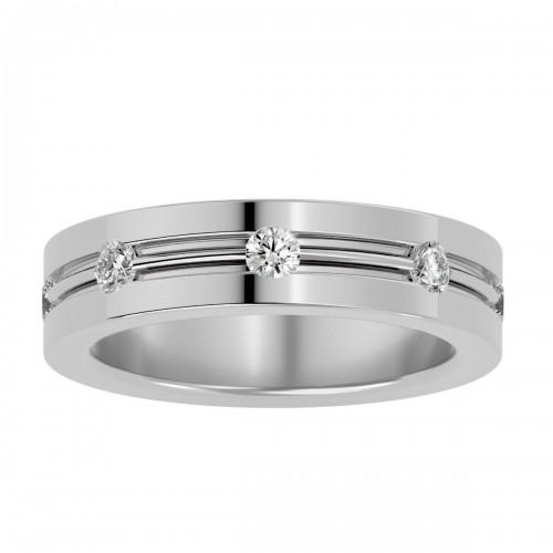 Royalbloom Round Cut Natural Diamond Wedding Ring For Her