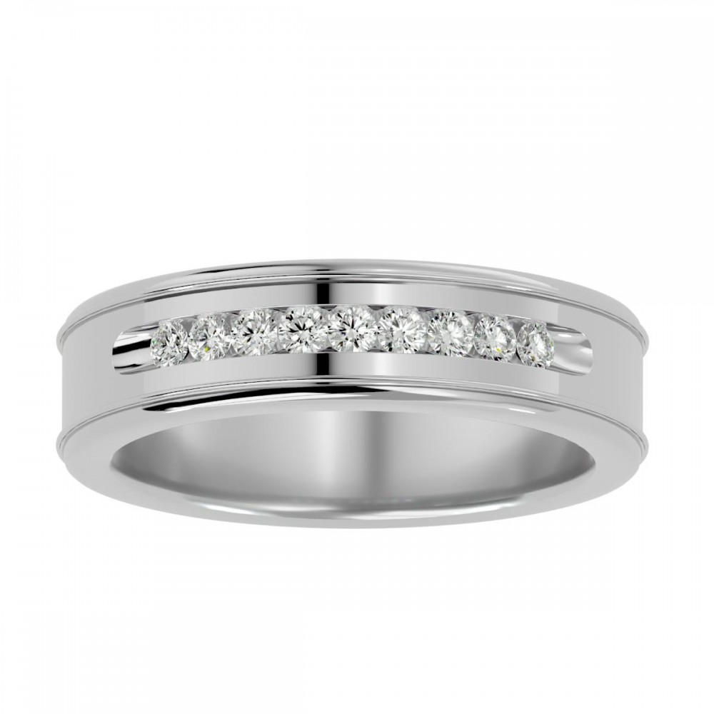 Artificial Round Cut Natural Diamond Wedding Ring for Women