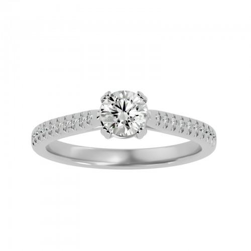 Roy Round Cut Diamond Women's Engagement Ring