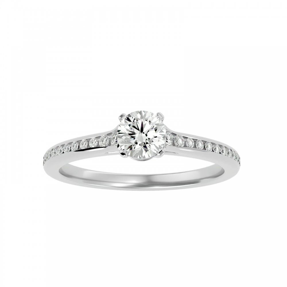 Maison Round Cut Diamonds Women Engagement Ring