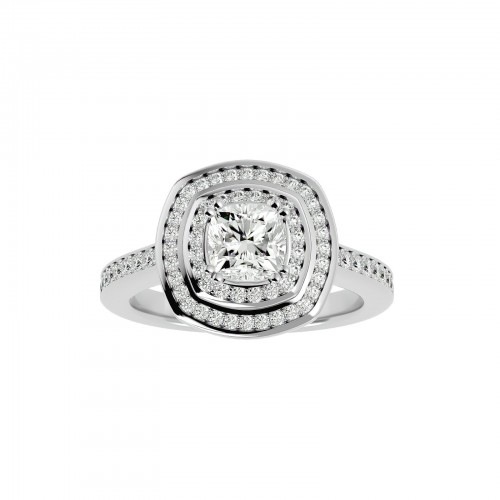 Aaliyah Cushion Solitaire Engagement Ring