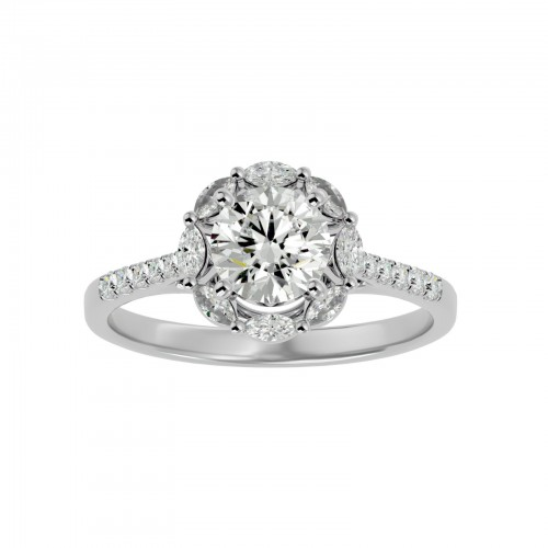Aamya Solitaire Diamond Ring