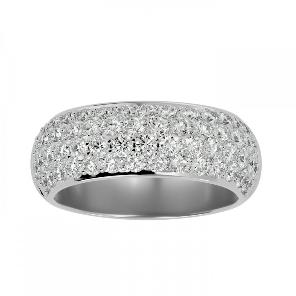 Annie Round Natural Diamond Wedding Ring