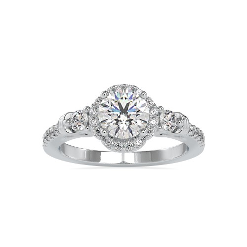 18k Solid Gold Diamond Ring