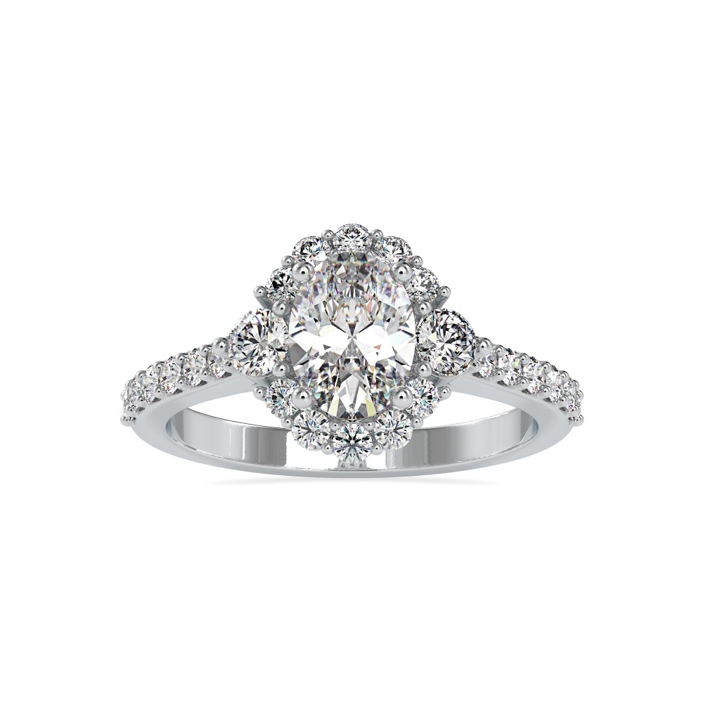 18k Angela Oval Solitaire Ring
