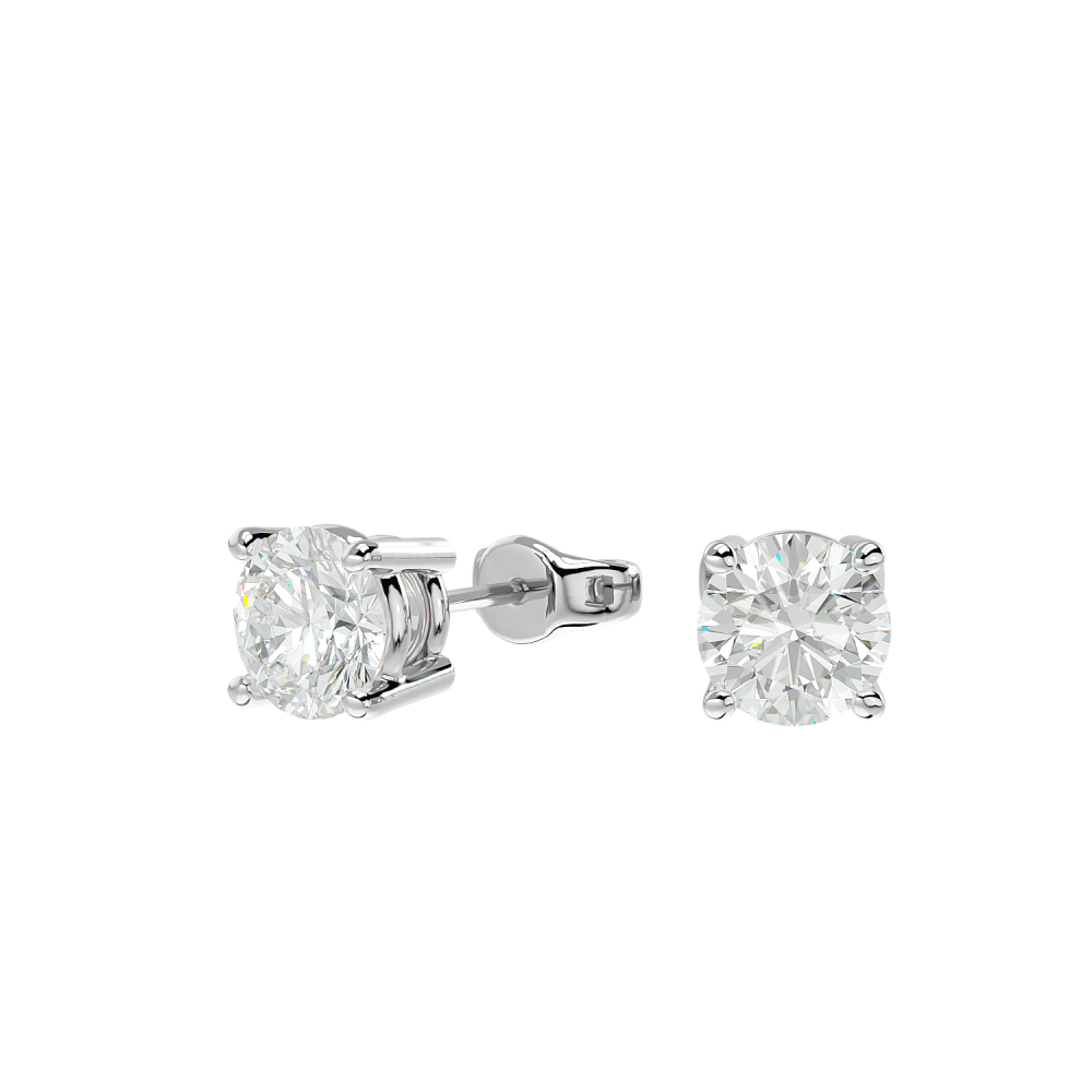 0.54TCW FG SI Solitaire Stud Earrings IGI Certified