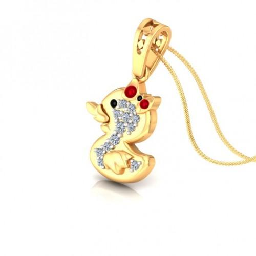 Little Duck Kids Design Diamond Pendant