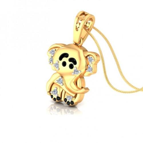 Elephant Kids Design Diamond Pendant