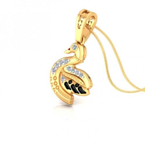 Duck Kids Design Diamond Pendant