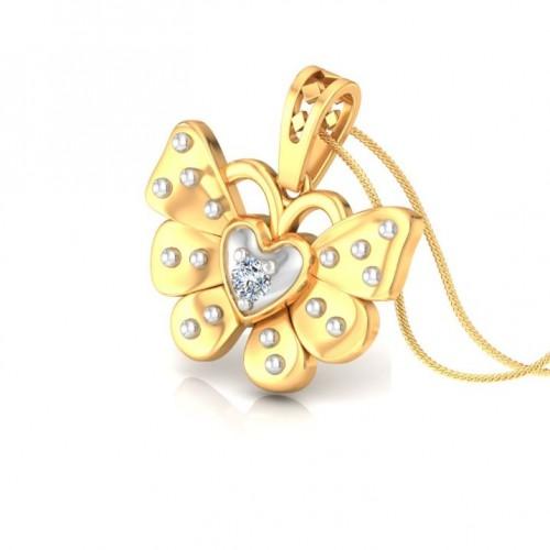 Butterfly Kids Design Diamond Pendant