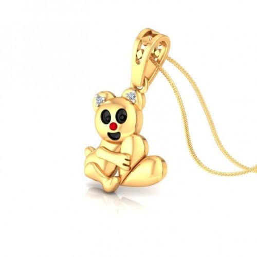Panda Kids Design Diamond Pendant